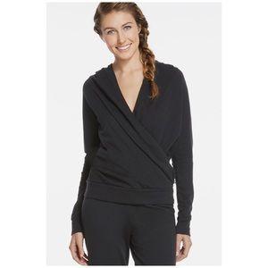Fabletics • black wrap Newport hoodie top